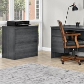 Executive Home Office Lateral File Cabinet Weathered Oak Memphis
