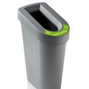 Recycling Bin Stream With Lid And Sticker Set