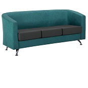 Reception Sofa Star 3 Seater With Chrome Foot