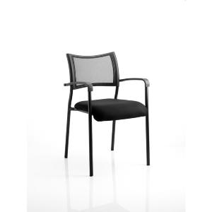 Mesh Chair Brighton With Arms Black/Black