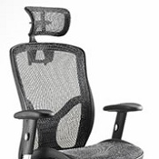 Mesh Chair Move Black With Headrest