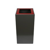 Office Recycling Bin Separate Pearl Grey With Lettering 100 litre Coloured Tops