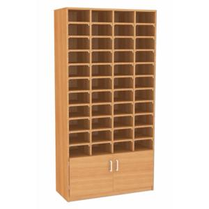 44 Pigeon Hole Unit With Cupboard GO