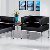 2 Seater Curved Frame Reception Seat Otto