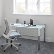Glass Desk / Table Crisp Frosted Glass Top