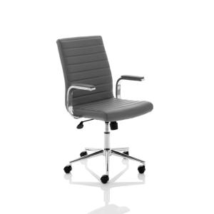 Office Chair Easy Grey Leather