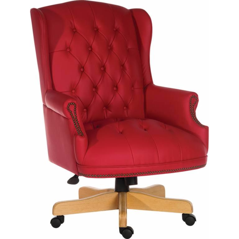 Traditional Button Tufted Executive Office Chair. Office