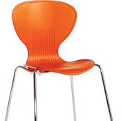 Cafe Chair Sky Three Orange Box Of 4
