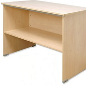 Post Room Table With Shelf T Range