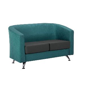 Reception Sofa Star 2 Seater With Chrome Foot