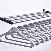 Coat Rack CC With 10 Anti Theft Grey Hangers