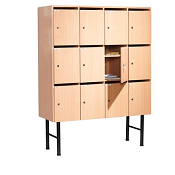Lockable Pigeon Holes Ace Wood 12 Boxes