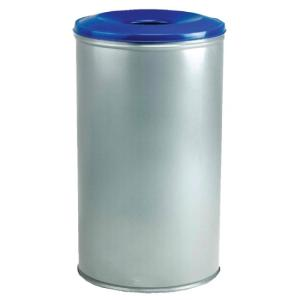 Recycling Bin Silver/ Coloured Lids Revolve BA 90 litre