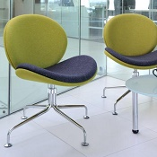 Reception Chair Wiggle Swivel Base