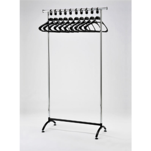 Coat Rail Chrome Style With Black Hangers