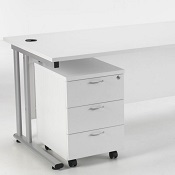 Office Desk Bundle 1600 Delite 3 Drawer Pedestal