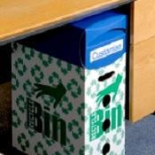 Recycling Bin Under Desk Pack of Three