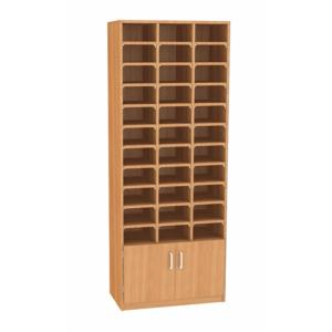 33 Pigeon Hole Unit With Cupboard GO