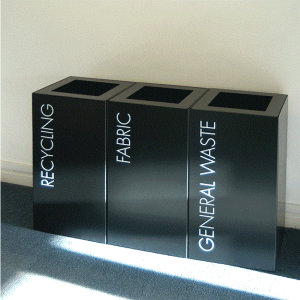 Office Recycling Bin Sorting Script 100 Litre Square