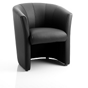 Neptune Single Tub Chair Black