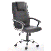 Office Chair Thames Black Leather