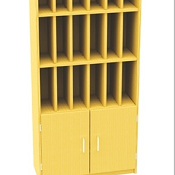 24 Post Hole Unit With Cupboard GO