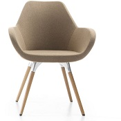 Pop Reception Chair on Wooden Legs