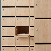 Lockable Pigeon Holes Ace Wood 21 Boxes