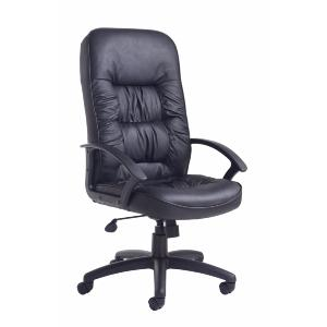 Office Chair Royal Black Leather