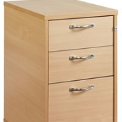 Office Desk High Pedestal H6 Work Beech