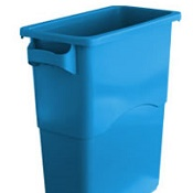 Office Recycling Bin Ecco 60 Litre Blue