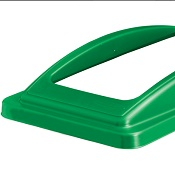 Office Recycling Bin Green Frame Lid For Mixed Recycling Ecco