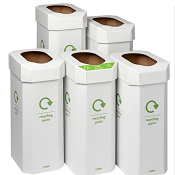 Recycling Bin Combination Pack of 5