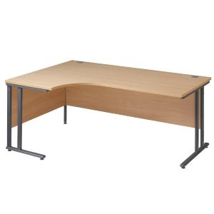 Ergonomic Desk 1600 Cantilever Frame Left Hand Work 25