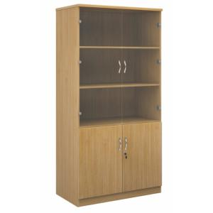 Deluxe Office Storage Combination Cupboard Work 2000G
