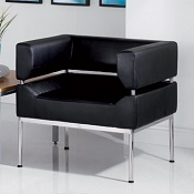 1 Seater Curved Frame Reception Seat Otto