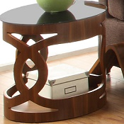 Lamp Table Forme  03 Walnut