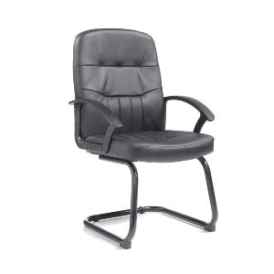Office Visitors  Chair Cavell Black Leather