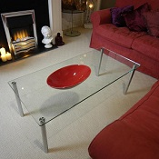 Glass Coffee Table Era Rectangular 1120 x 500