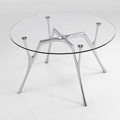 Executive Glass Desk Venice Diameter 130cm