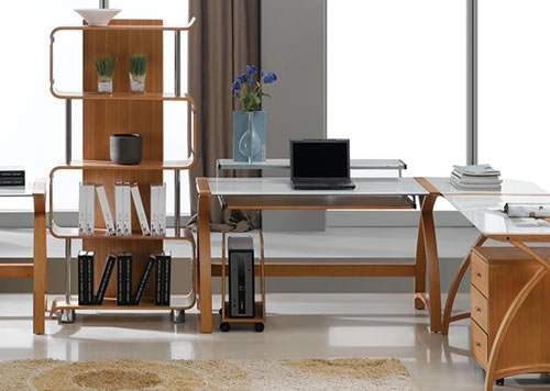 Awesome ... Is Modern Design Office Furniture Finished In A Sumptuous Curved Real  Wood Veneer That Complements Contemporary Wood Furniture In Today`s Modern  Home.