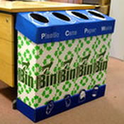 Cardboard Recycling Bin Deskside