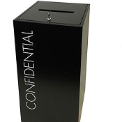 Office Recycling Bin Separate Confidential With Lettering 100 litre