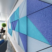 Abstract Large Triangle Acoustic Wall Tile 25mm