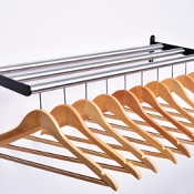 Coat Rack CC With 10 Anti Theft Wooden Hangers