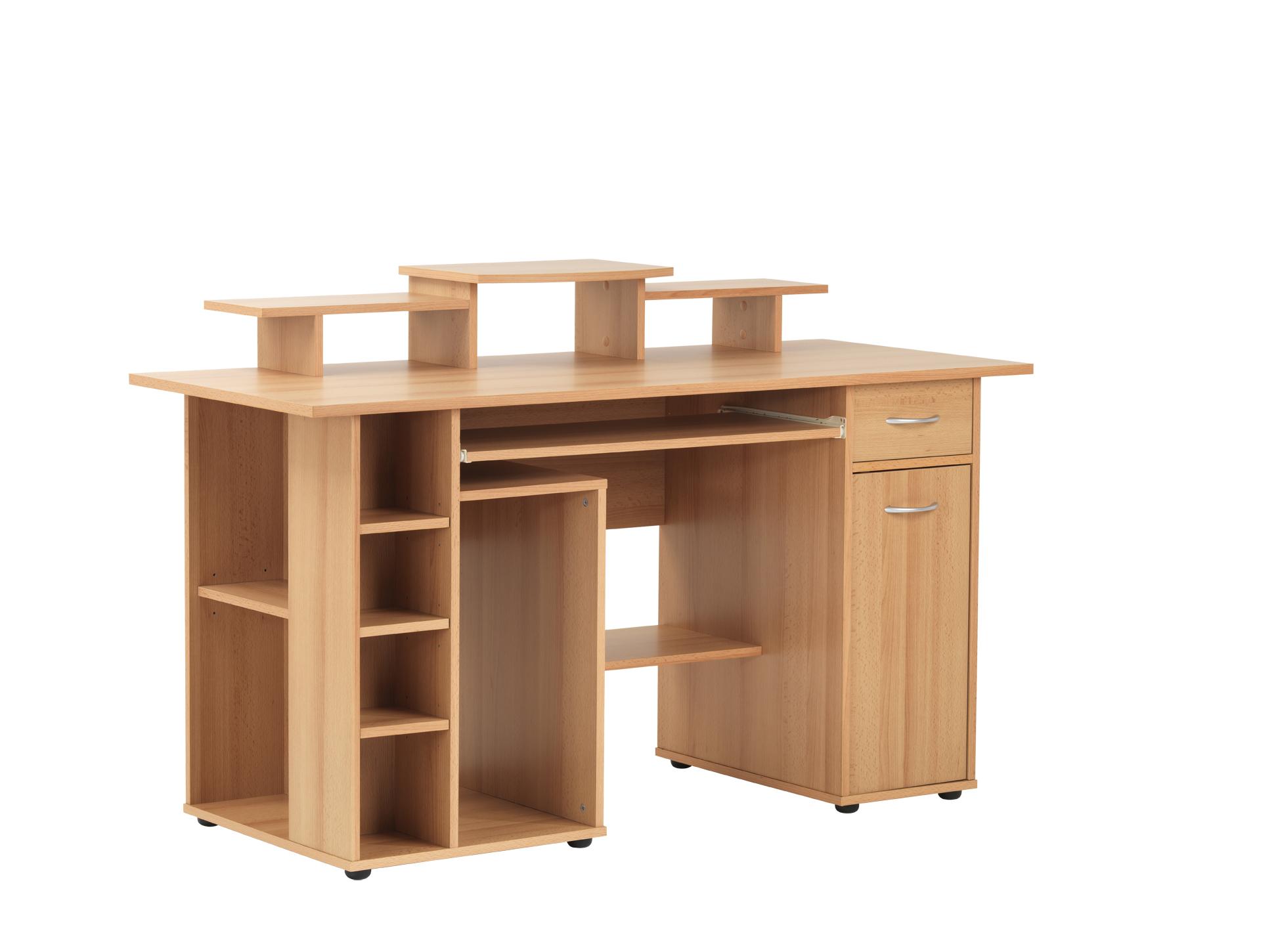 Beech Computer Desk Computer Desks Uk
