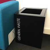 Office Recycling Bin Separate With Lettering 60 litre